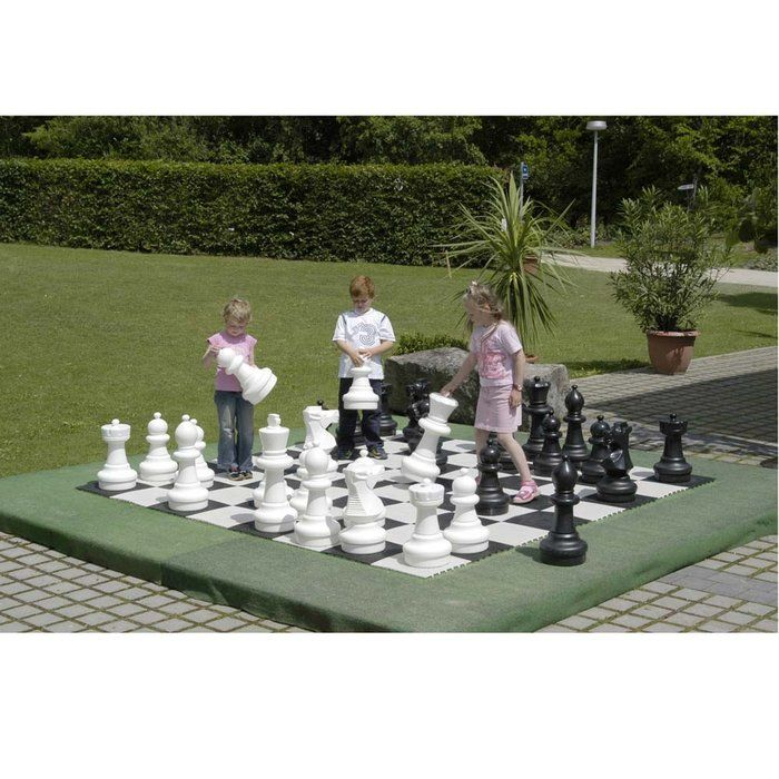 Large Chess Pieces at Brookstone (checkers also available)