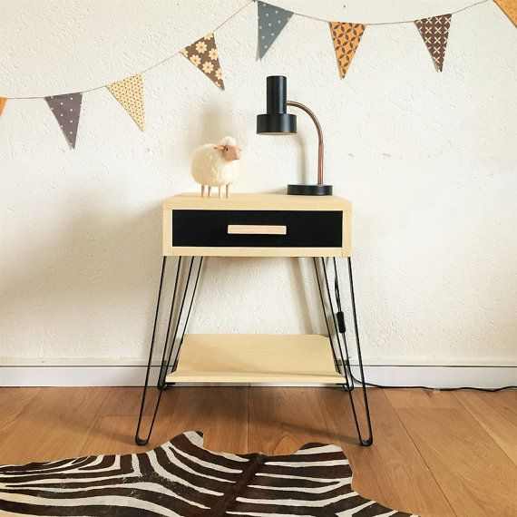 Table de chevet scandinave et vintage table de nuit - Table de nuit scandinave ...