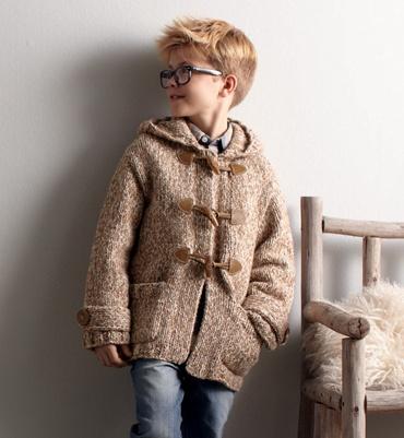 Model vest boy duffle coat - knitted child models - Phildar