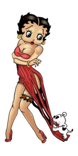 Betty Boop A Cartoon Legend by Minnie Davis - similar to coppertone ad