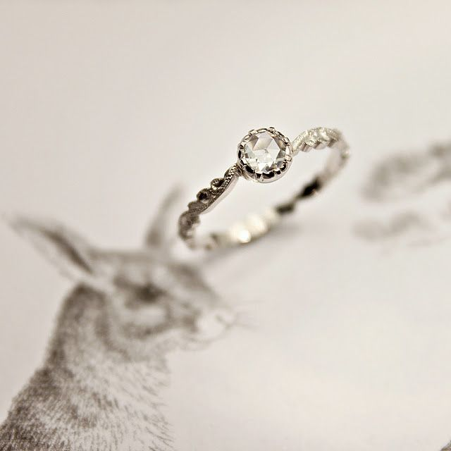 My very favorite!!!  - Beautiful engagement ring by Rust Jewellry - http://www.rustwedding.bigcartel.com/product/platinum-4mm-rose-cut-diamond-floral-carvedRosecut Diamonds, Diamond Rings, 4Mm Rose Cut, Rings Floral, Beautiful Rings, Rose Cut Diamonds, Diamonds Rings, Floral Carvings, Antiques Engagement Rings