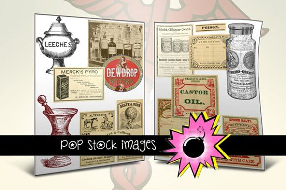 Apothecary & Vintage Medical Images by popstock on @creativemarket