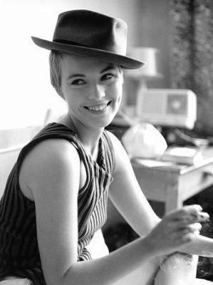 Jean SebergFilm, Hats, A Mini-Saia Jeans, Seberg Jeans, Tomboys Style, Style Icons, Jeanseberg, Jean Seberg, Breathless 1960