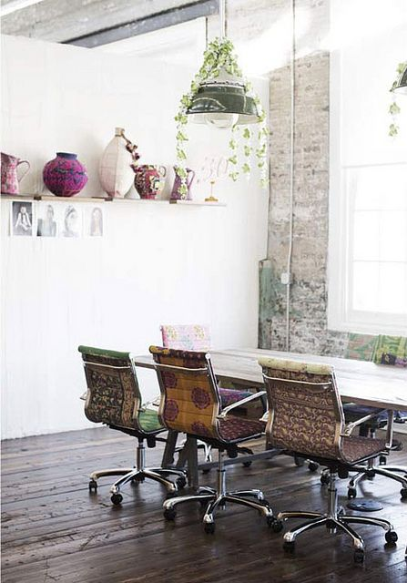 free people office & sari butterfly chairs by the style files, via Flickr