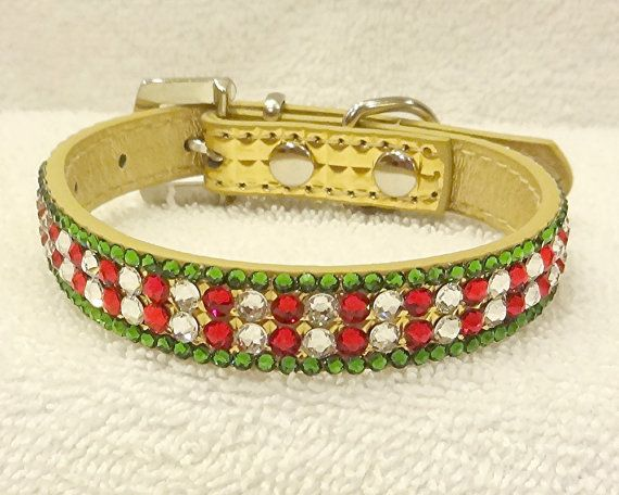 Christmas Dog or Cat Collar Swarovski by PegsEmbellishedGifts