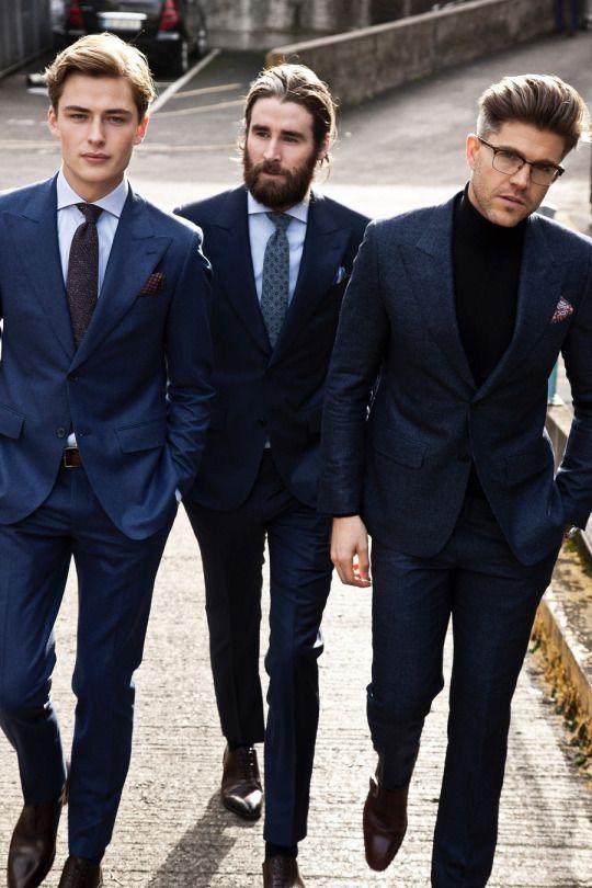356f21f0b3 Simple suit pairing options with a navy slim suit light blue shirt maroon  tie black suit