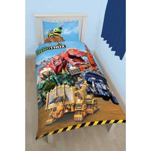DinoTrux sengetøj med de seje monstertrucks som Dozer, Ty Rex, Ton-Ton og mange flere