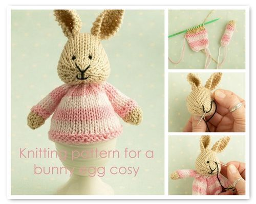 Cute knitted boiled egg cosie.