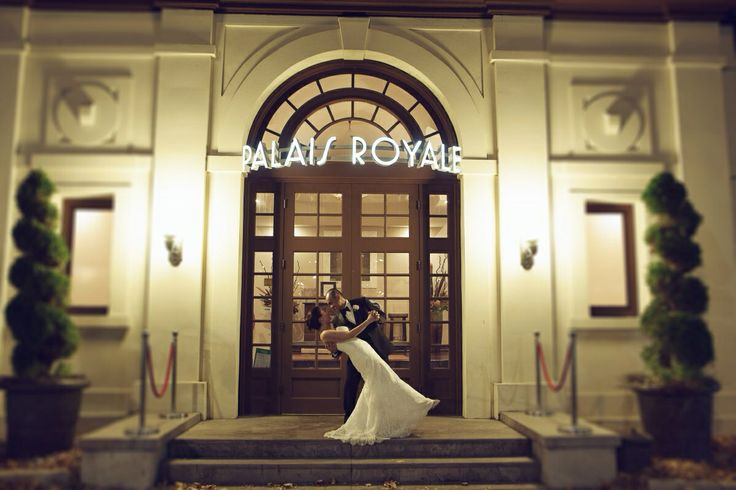 We love the couple photography taken at our front door! Palais Royale Ballroom - Toronto