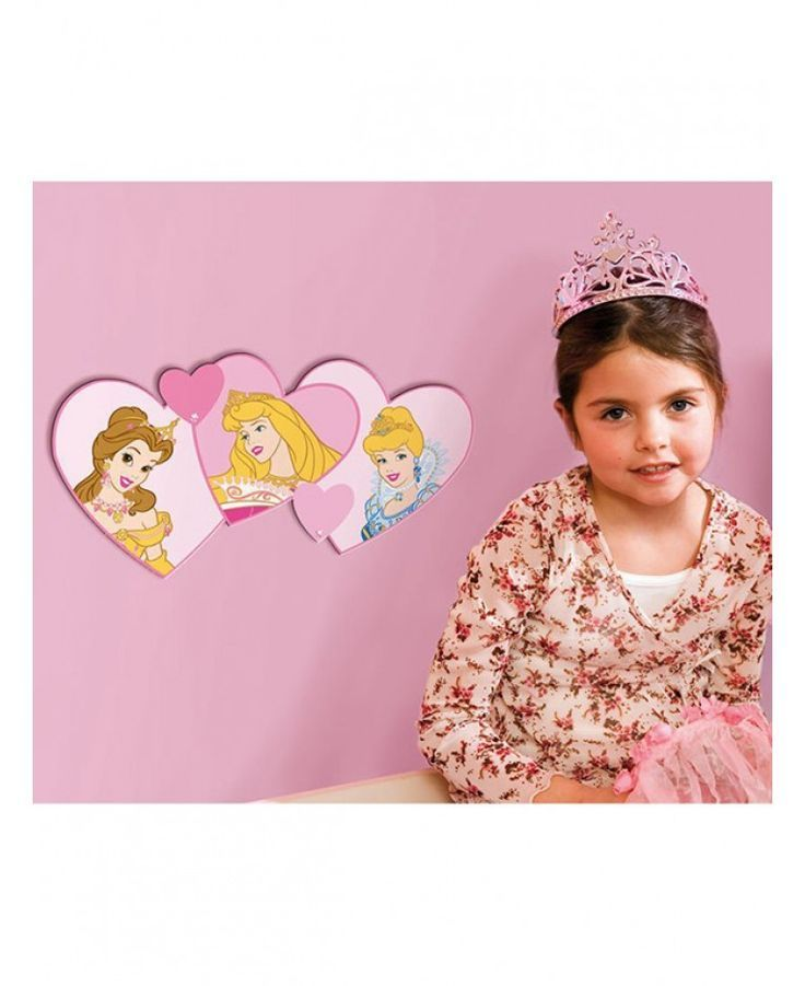 These great Disney Princess foam wall decors will look great in any bedroom and delight your little princess. They feature Belle, Aurora and Cinderella and are self-adhesive which makes them easy to apply and the perfect finishing touch to a Princess themed room.:
