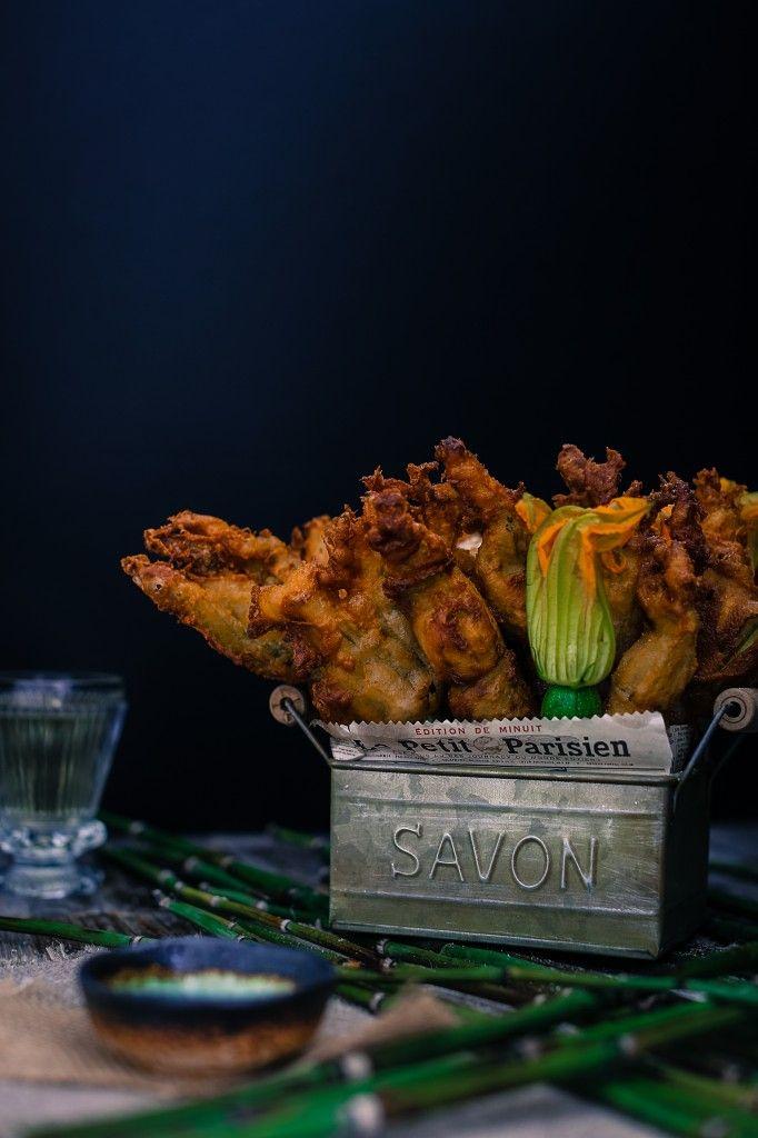 fried zucchini flowers / Circa Happy