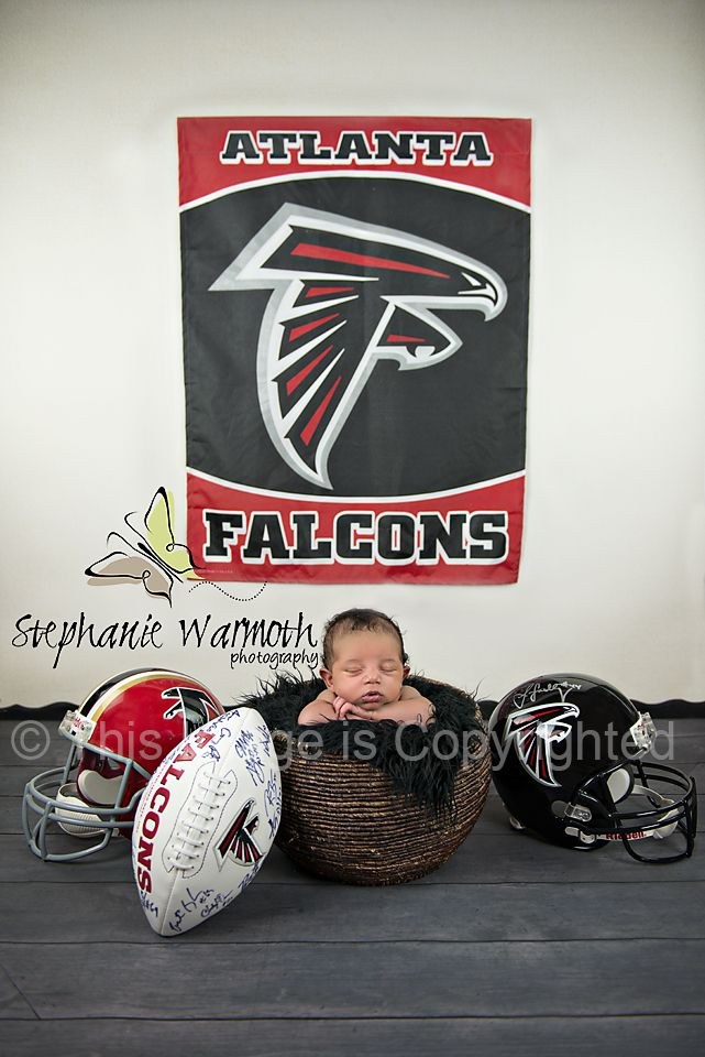 Atlanta Falcons; football; helmet; newborn photography; Atlanta photographer