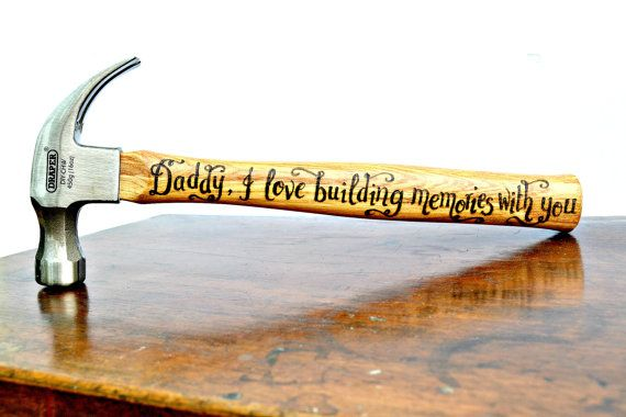 Personalized hammer with your own choice of message. Ideal gift for Fathers Day, birthday gift for Dad, husband, Grandad etc. Gift for him, gift