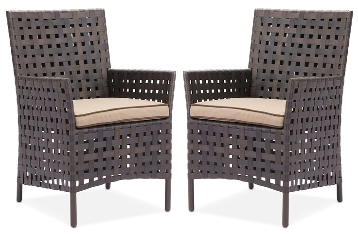 Turner 2-Piece Outdoor Dining Chair Set - Brown