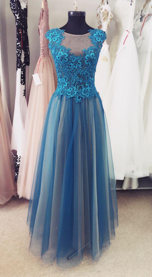 turquoise dress @ IrinaRossAtelier