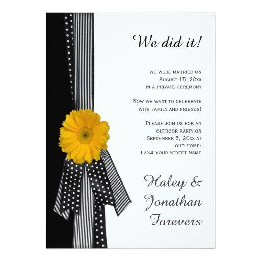 246 Best Black Yellow Wedding Invitations Images On Pinterest