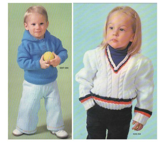 Knitting Pattern  Vintage Two Toddler Pullovers PDF by MyMayaMade, $3.33