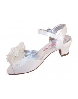 d66dcb426287 Girls ivory iridescent bridesmaid and occasion shoes