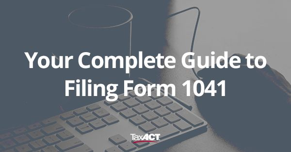 IRS Form 1041 is an income tax return for estates and trusts, similar to Form 1040 for individuals. If you're an executor for an estate, you may be required to file Form 1041