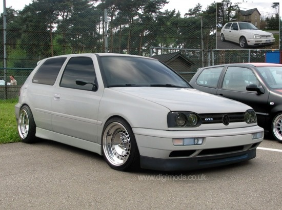VW Golf Mk3.   The car is so Trey