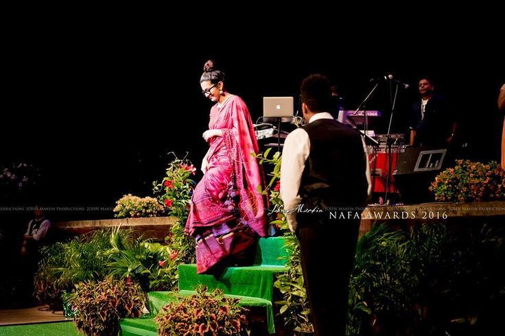 Actress #Parvathy in a Shalini James ensemble at the NAFA Awards 2016. Photo credits - John Martin