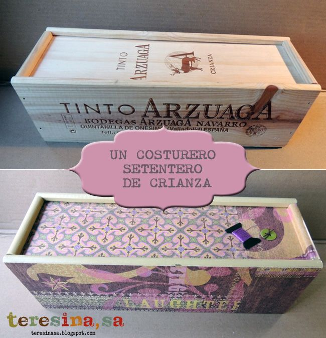 top gallery of costurero setentero with cajas de vino de madera decoradas with cajas de vino de madera decoradas - Cajas De Vino Decoradas
