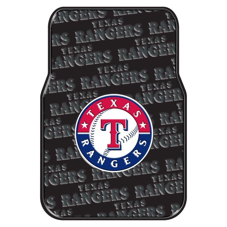 The Northwest Company MLB 343 Rangers Car Front Floor Mat Set (Rangers), Multi