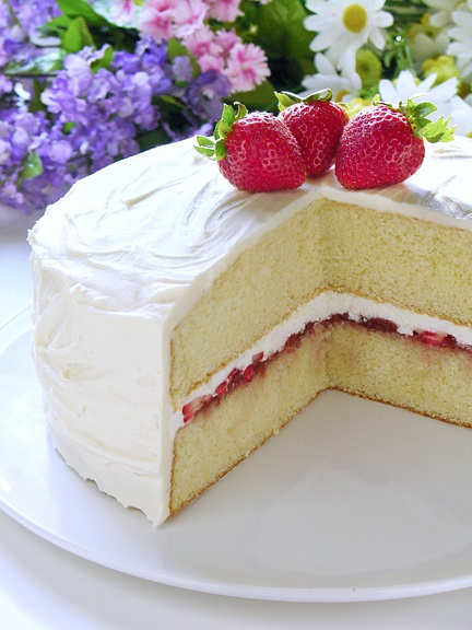 Don't let summer slip away without making a Strawberries and Cream Cake. High-altitude directions too.