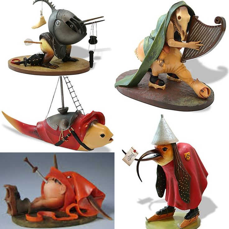 Nice Figurines of Hieronymus Bosch's Gothic Monsters. Must Have.