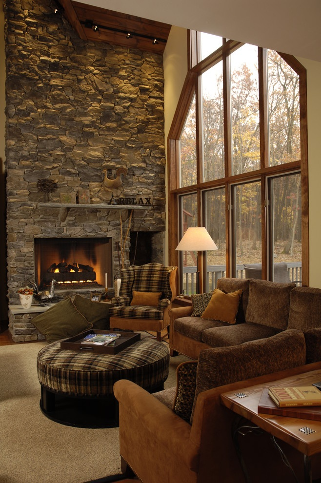 Love the window and stone wall