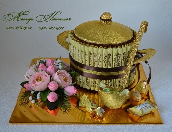 Gallery.ru / Кастрюля из конфет. Оригинальный подарок повару. - Скульптурные композиции из конфет - monier