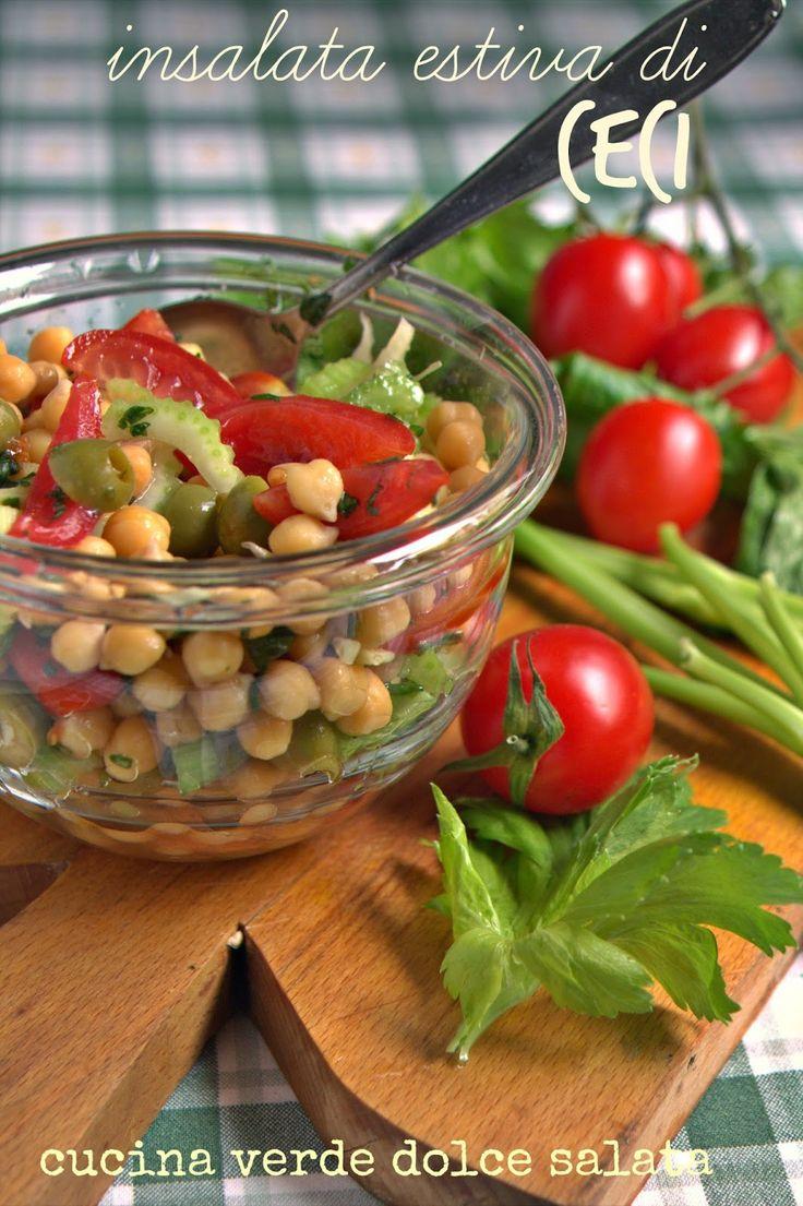 cucina verde dolce e salata: INSALATA ESTIVA DI CECI