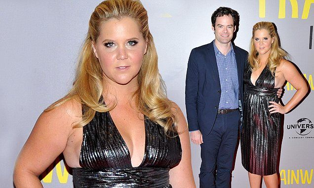 Amy Schumer shows cleavage in low-cut gown Dublin Trainwreck premiere