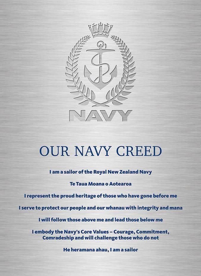 New Zealand S Royal Navy Creed