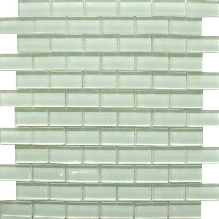 Clear White Tiles Glass Brick Mosaic Tiles 320x310x8mm Tiles
