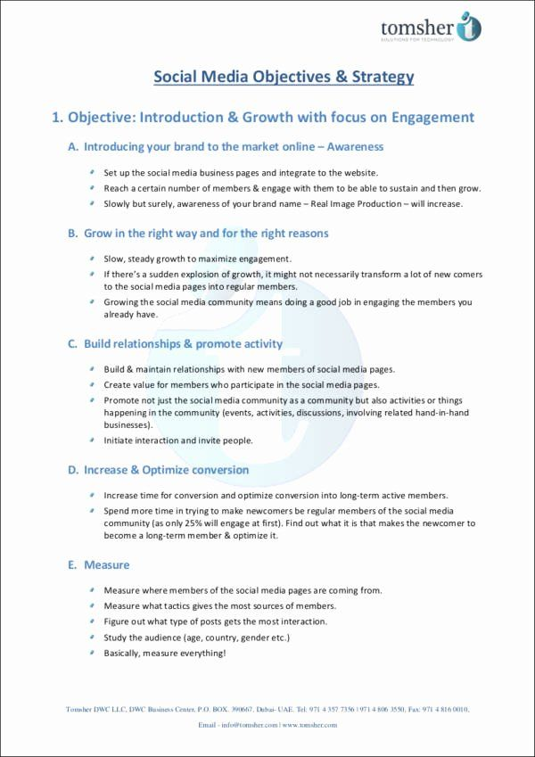 Social Media Proposal Template Unique 5 Social Media Marketing