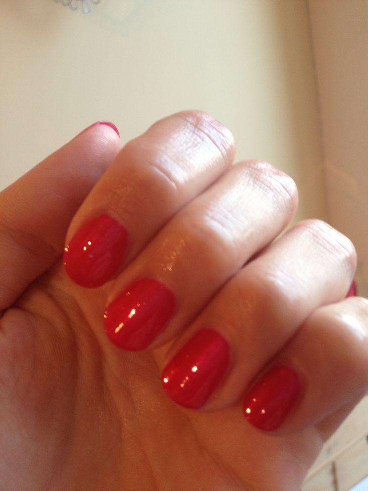 Rode nagellak met mooie glans