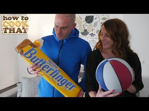GIANT BUTTERFINGER How To Cook That Ann Reardon giant candy bar recipe - YouTube