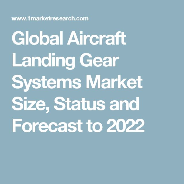 Global Aircraft Landing Gear Systems Market Size, Status and Forecast to 2022