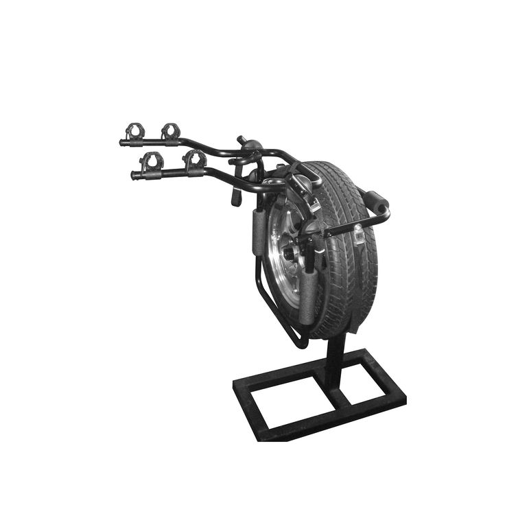 Force Rax Deluxe Second Generation 2-Bike Spare Tire Car Rack, Black