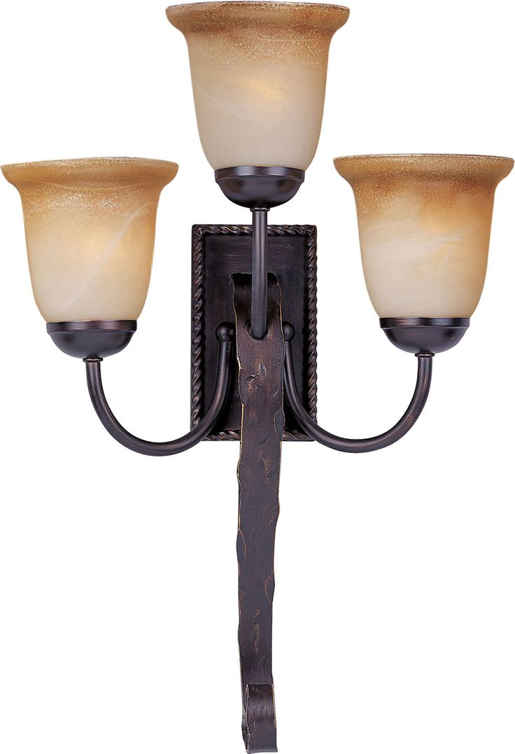 Chloe loft industrial 2 light oil rubbed bronze wall sconce free - Three Light Wall Sconce