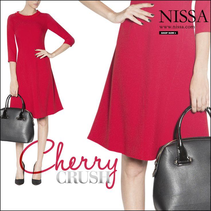 www.nissa.com #nissa #cherry #crush #dress #red #fashion #dream #style #look #outfit #rosu #rochie #fashionista