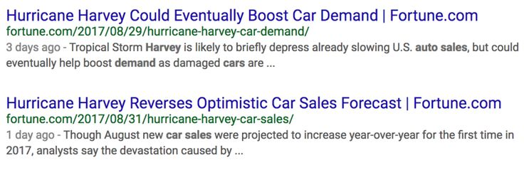 Can we not talk about Hurricane Harveys effect on car sales right now?
