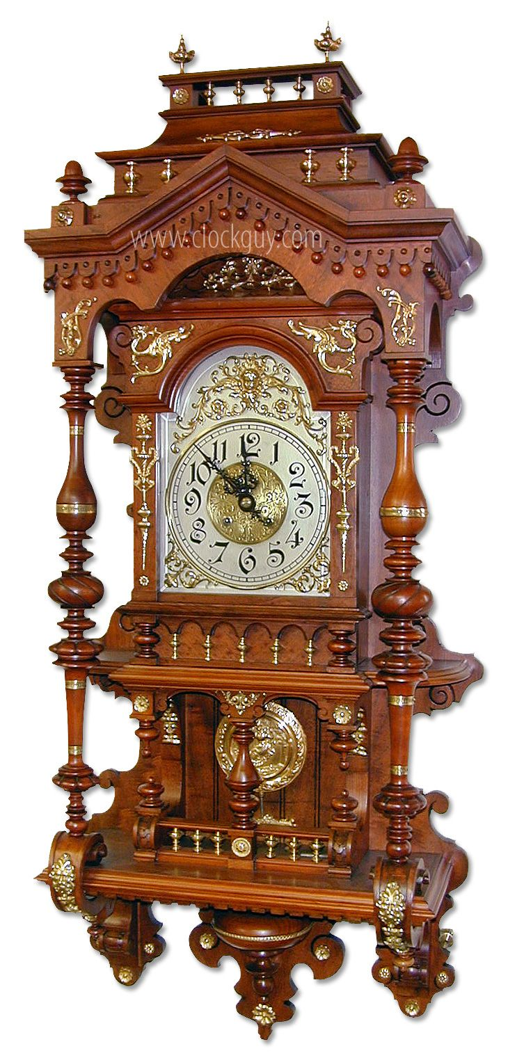 Gustav Becker Quot Open Well Quot Clock Reminiscent Of Easily