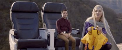 Most notably Elijah Wood.   This Hobbit-Inspired Airline Safety Video Is One You'll Actually Watch