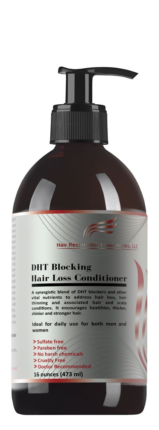 Hair Restoration Laboratories is proud to announce the most effective hair loss conditioner ever developed—the DHT Blocking Hair Loss Conditioner!  Using the DHT Blocking Hair Loss Shampoo along the DHT Blocking Hair Loss Conditioner provides the ultimate
