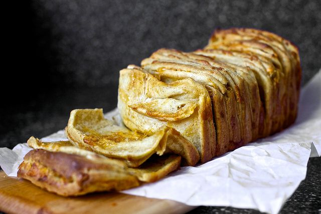 Cheddar, beer and mustard pull-apart bread by Smitten Kitchen, via Flickr. OOF.