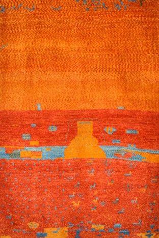 Red Beautiful Gabbeh Wool Rug GB-02 $133.00