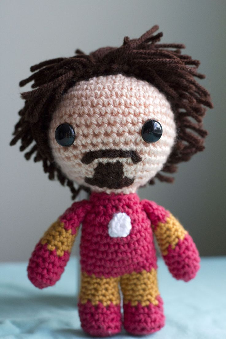 Iron Man Amigurumi Free Pattern : 1000+ images about crochet on Pinterest Free pattern ...