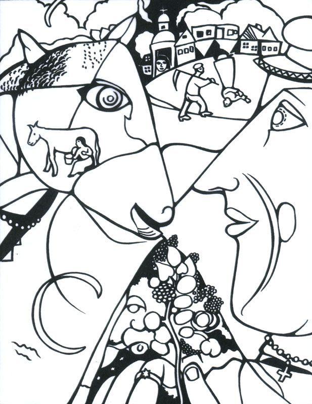 Chagall : Moi et le village